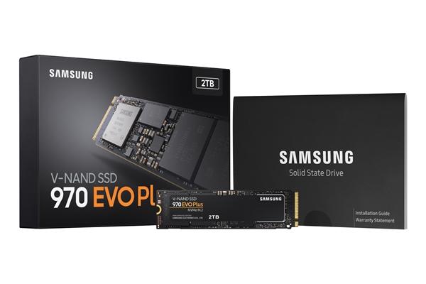 三星发布970 EVO Plus M.2 SSD:9x层堆叠 随机写入暴涨57%
