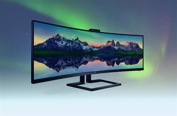 飞利浦发布全新49英寸带鱼屏曲面显示器:售价8600元