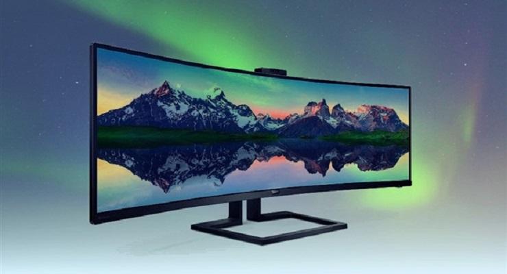 飞利浦发布全新49英寸带鱼屏曲面显示器