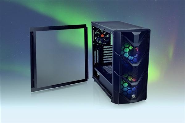 曜越推出全新C系列PC机箱:预装2个200mm RGB风扇