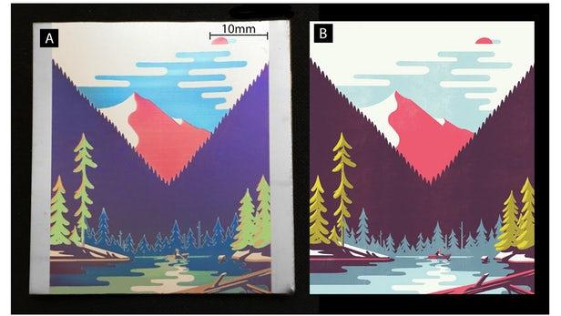俄罗斯科学家利用单激光技术在金属上打印彩色图像