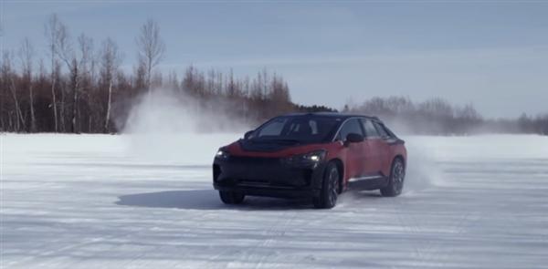 FF91冰雪测试视频公布:电池组配空调系统、整车1050匹马力