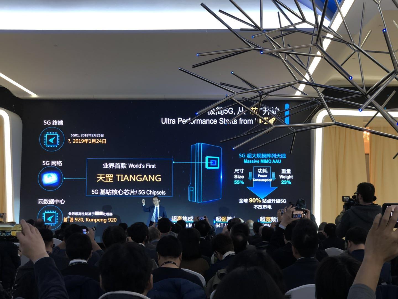 华为发布业界首款5G基站芯片:天罡