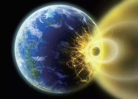 图5小行星撞击地球示意
