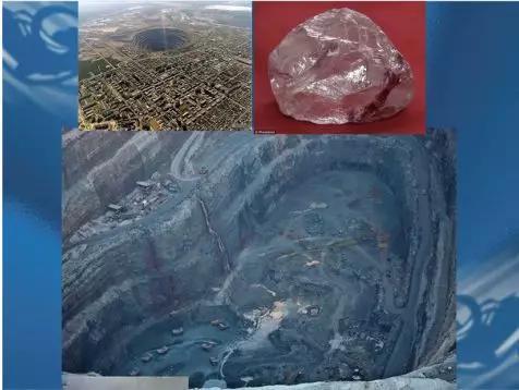 图10正在开采金刚石的俄罗斯西伯利亚雅库梯地区的撞击坑
