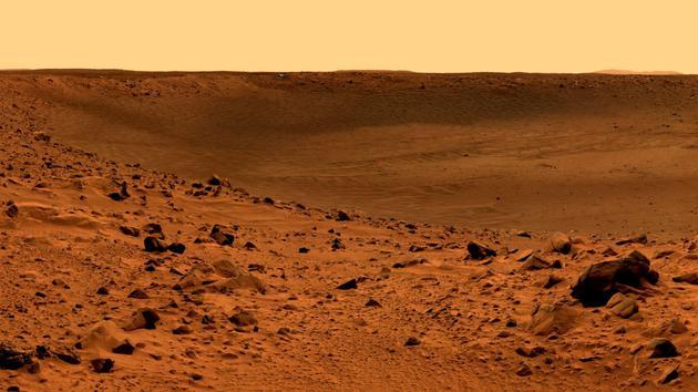 探测器拍摄的火星地表景象