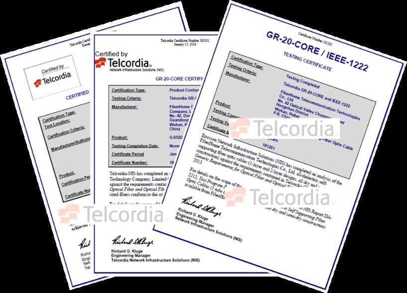 烽火再次获Telcordia产品认证,将继续携手全球运营商建设5G