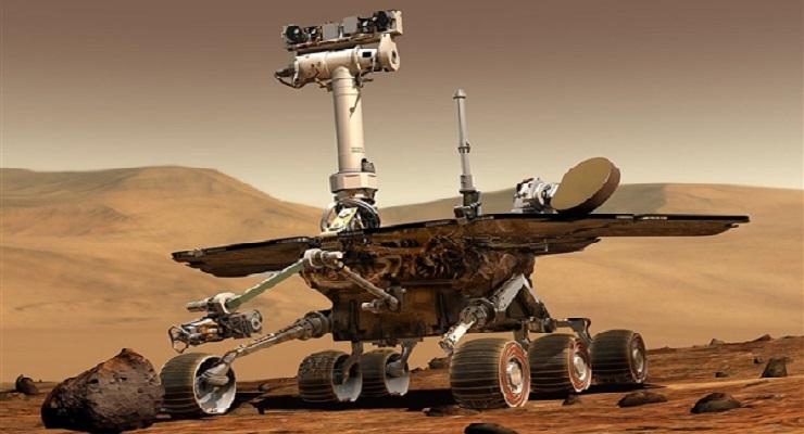 机遇号火星车最后拍摄的照片