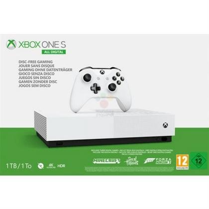 Xbox One S无光驱版发售细节曝光:售价更低、预装三款大作