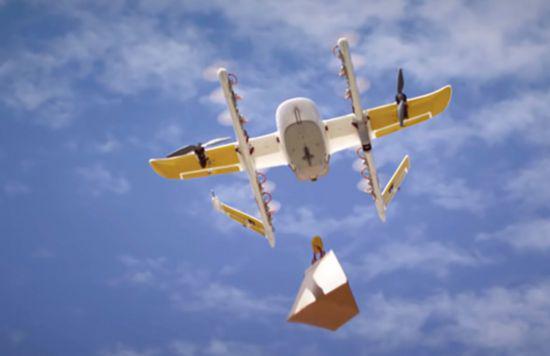 谷歌无人机送货获运营牌照:将先展开外卖业务