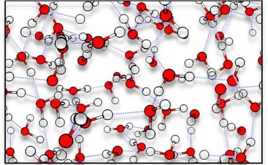 每一个瞬时图像中都有数不清的分子,单个分子的行为依然难以辨析(左图San Fermin Pamplona,右图由作者提供)