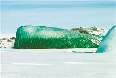 """谁把南极冰山""""调""""成翡翠绿"""