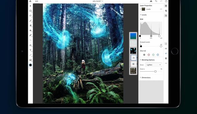 Abobe邀请部分iPad用户注册内测版Photoshop