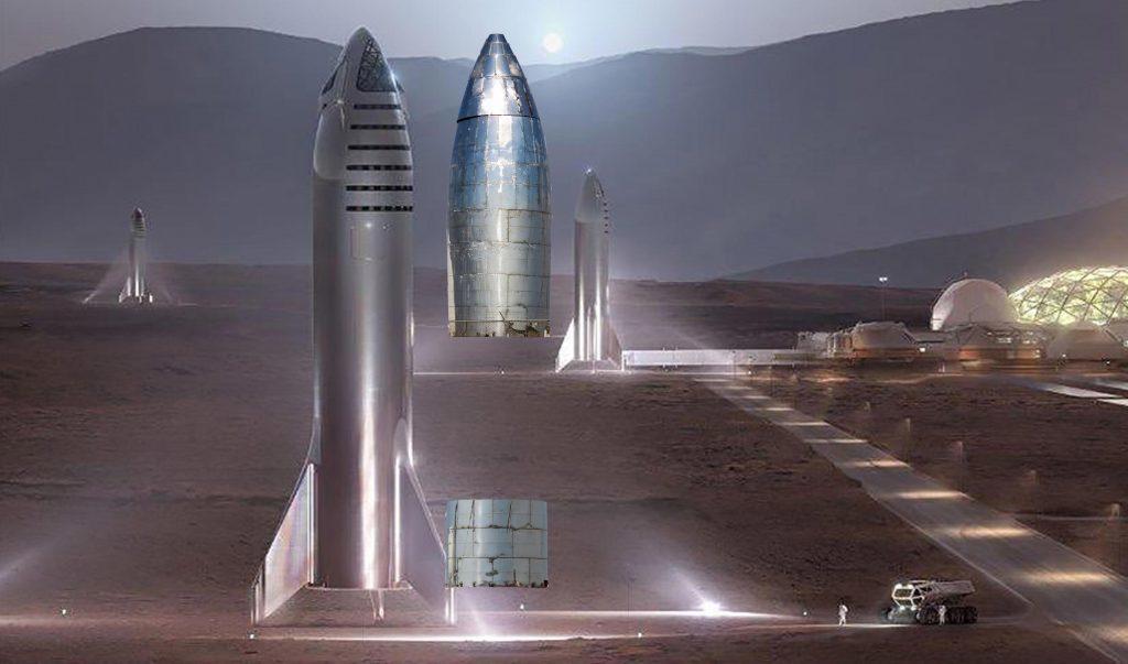 SpaceX星际飞船原型安装整流罩,另一艘也在建