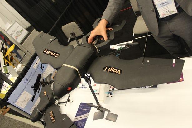 Vogi垂直起降无人机使用四个推进螺旋桨来保持简单高效
