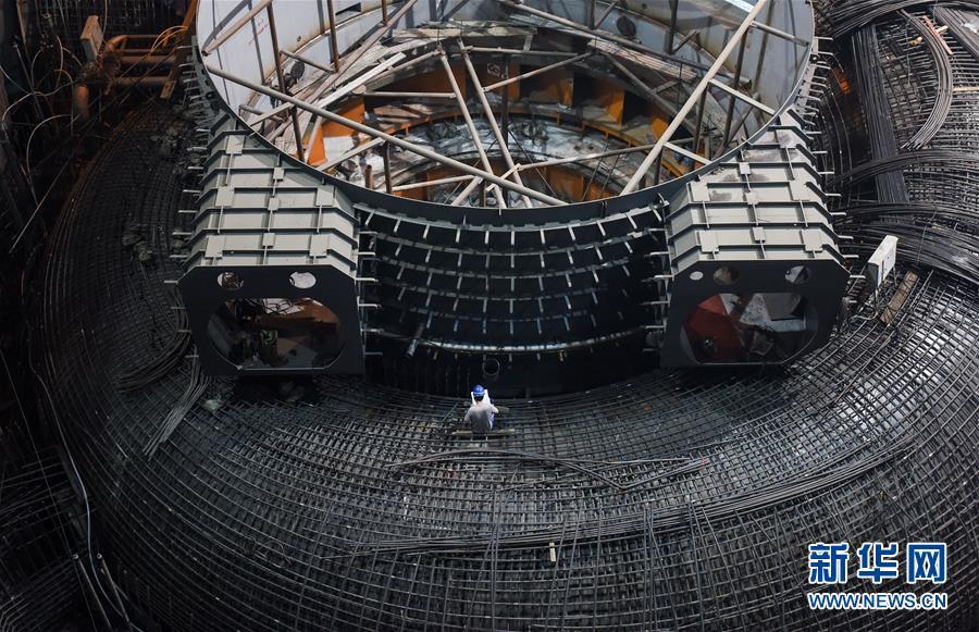 白鹤滩水电站加紧建设