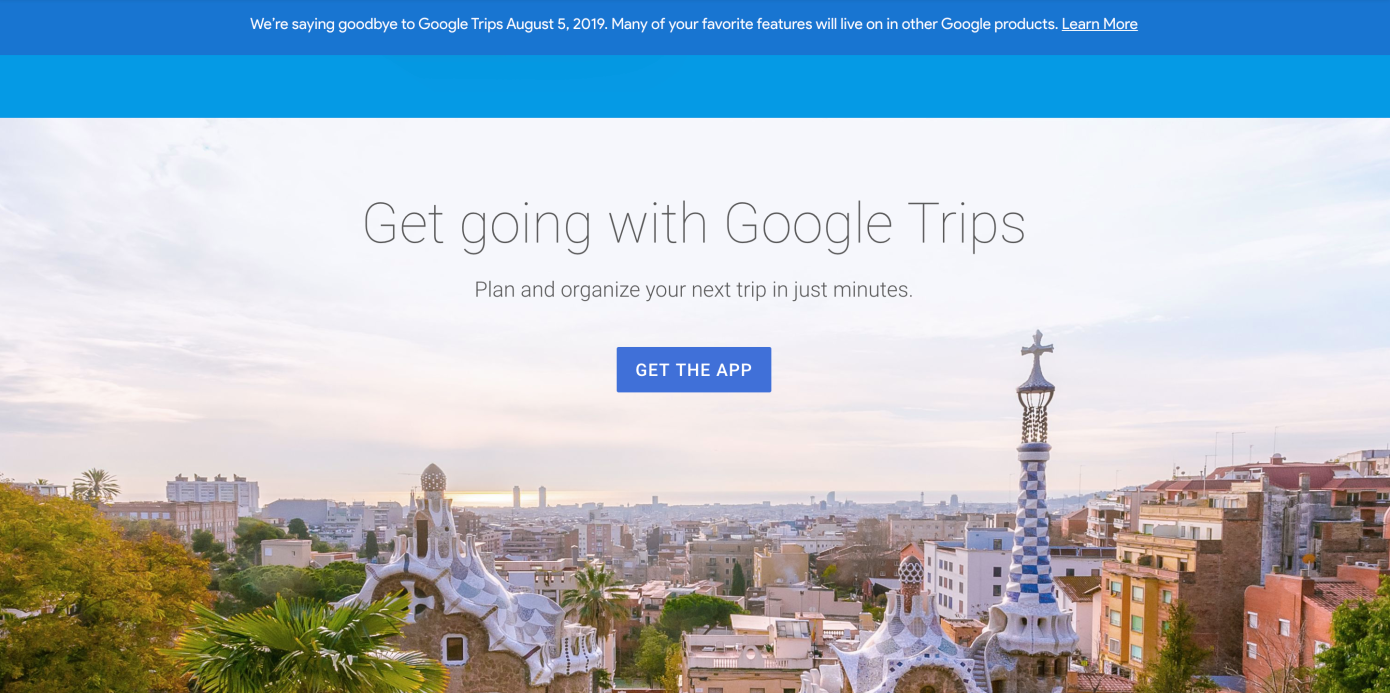 谷歌将关闭旅游应用Trips 功能整合进地图及搜索