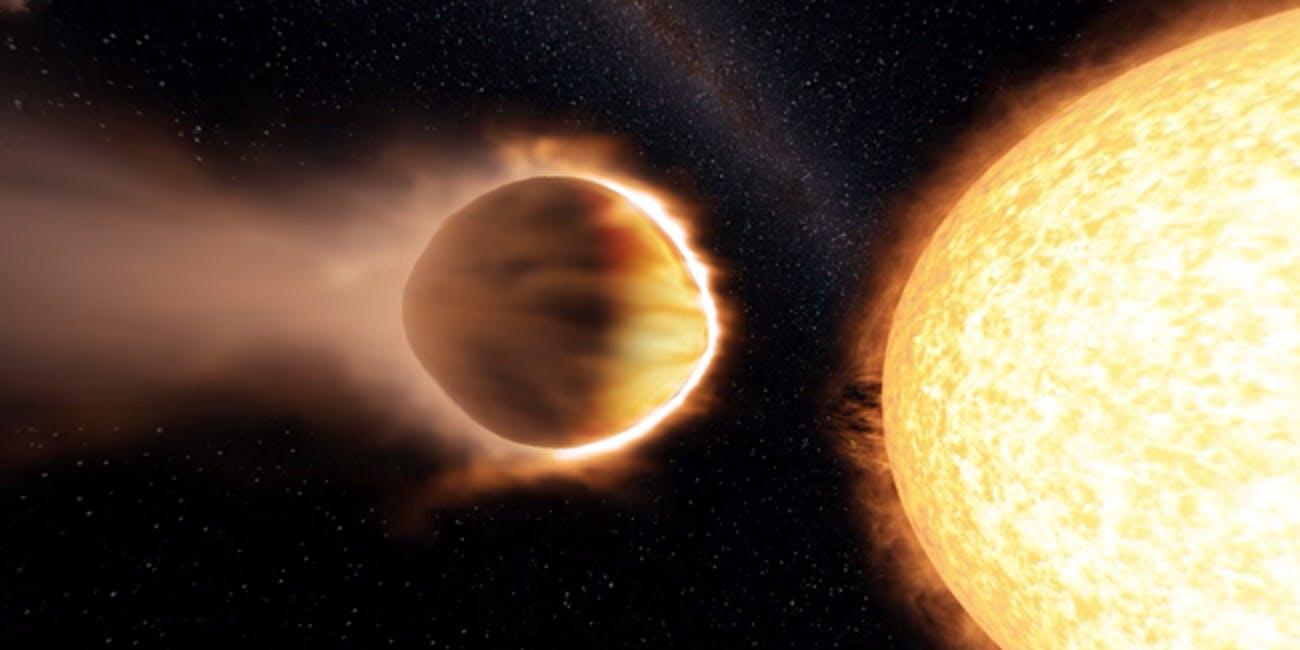 """一颗系外行星正在失去""""重金属""""大气"""