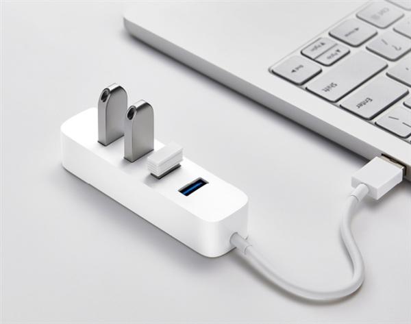 小米USB3.0分线器发布:四口USB 3.0+USB-C