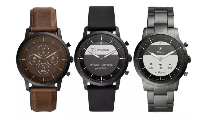 Fossil发布混合智能手表 具有物理表针和常亮显示屏