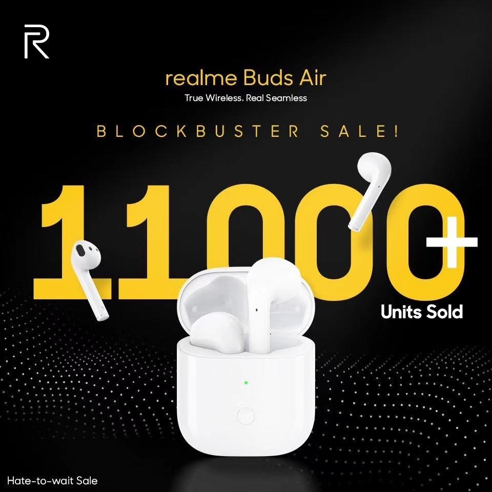 1小时售出11,000台,realme Buds Air率先开启印度IoT爆款时代