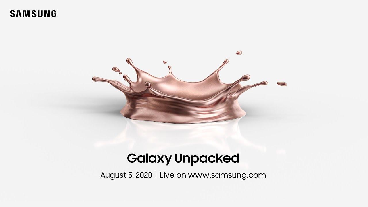 三星将于8月5日举行Unpacked活动 Note 20系列有望发布