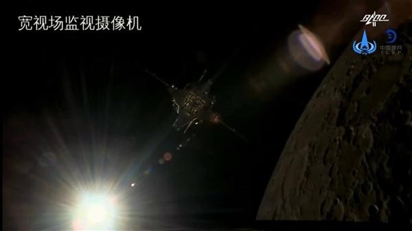 高清第一视角!嫦娥五号对接组合体分离视频